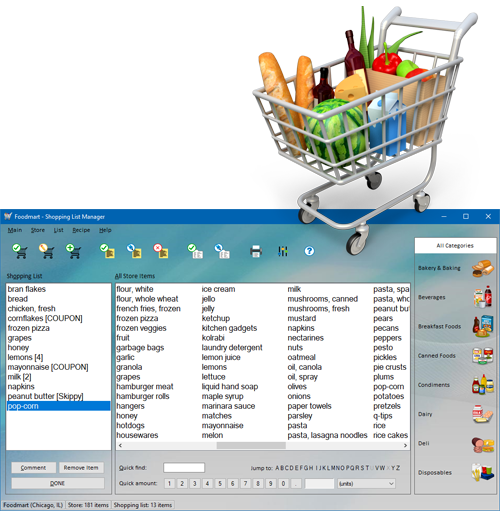 Shopping List Manager